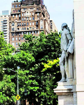 George Washington overseeing the Park by Anne Ferguson