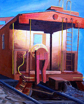 Georgetown Caboose by Ronald Lightcap