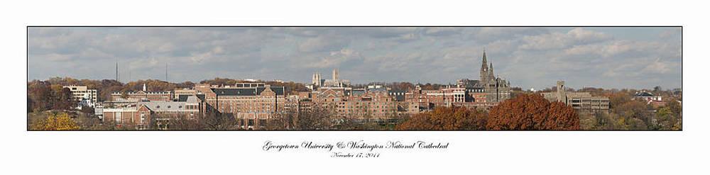 Georgetown University Fall Panorama by Lauren Brice