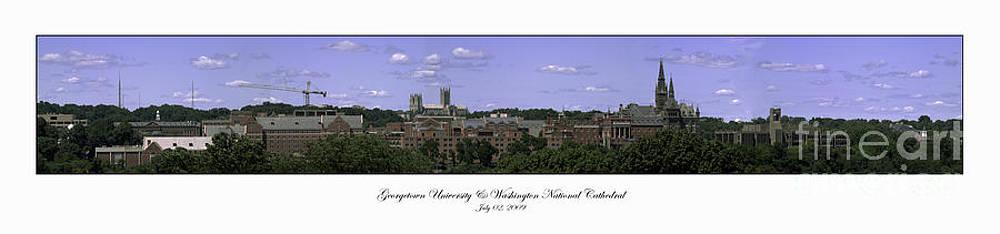 Georgetown University Panorama Summer by Lauren Brice