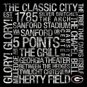 Georgia College Colors Subway Art by Replay Photos