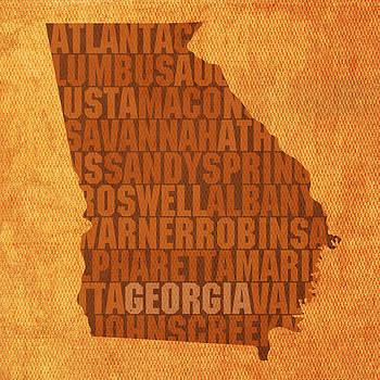 Design Turnpike - Georgia Word Art State Map on Canvas