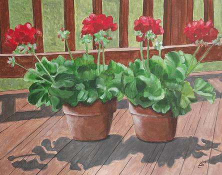Geraniums For My Deck by Kim Selig