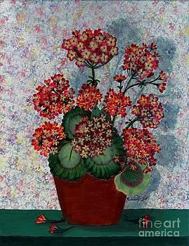Barbara Griffin - Geraniums in a Copper Pot