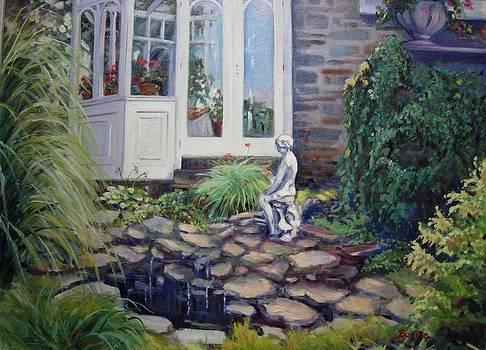 Geraniums in the Window by Bonita Waitl