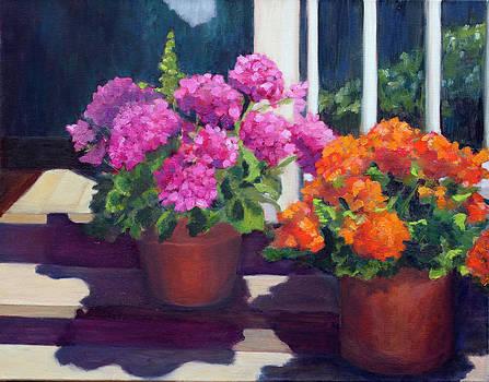 Geraniums by Linda Rosso
