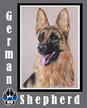 German Shepherd by Ellen Lyner