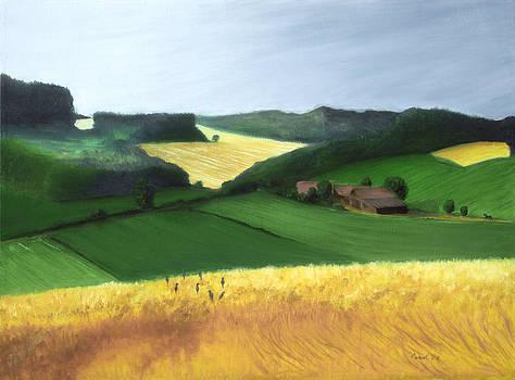 German Wheat Field by Paintings by Parish