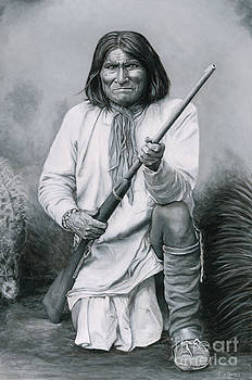 Geronimo '86 - painting by Stu Braks