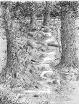 Jim Hubbard - Getting near the wolf den The Wolf Den  triptych II