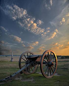 Gettysburg Cannon Sunset by Wayne Letsch
