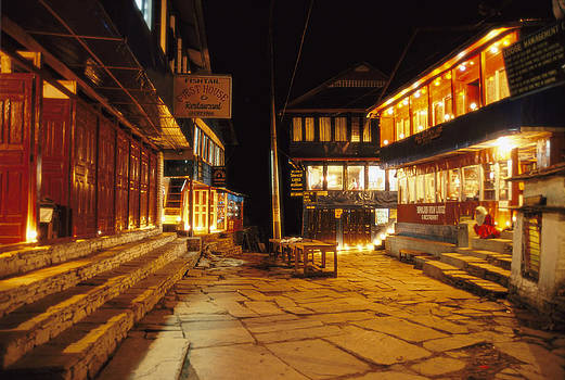 Ghorepani at night by Richard Berry