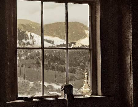 Ghost Town School Window by Larry Bodinson