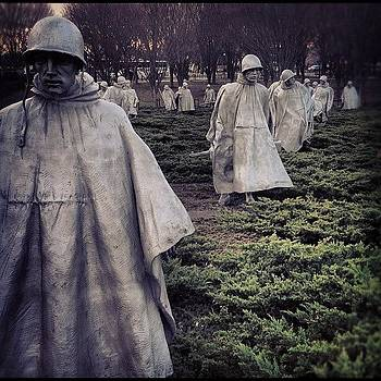 Ghostly, Korean War Memorial Ii by Dean Sauls