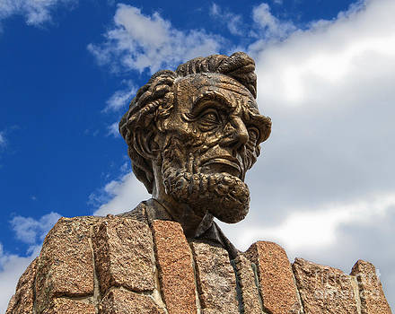 Gregory Dyer - Giant Head of Abraham Lincoln in Laramie Wyoming