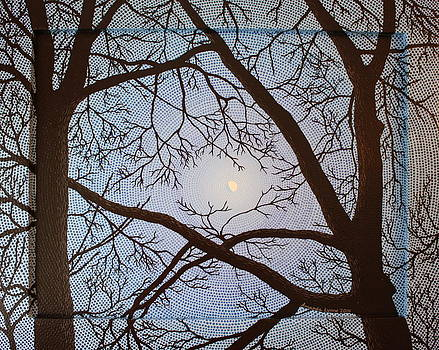 Gibbous Moon at Twilight by Amanda  Lynne