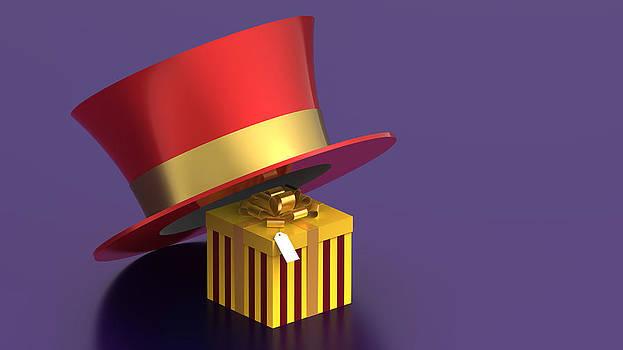 Gift box under hat by Borislav Marinic