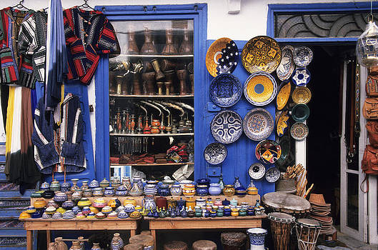 Gift shop Fez Morocco by Jim  Wallace
