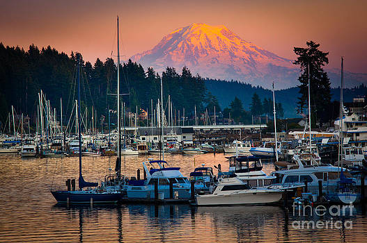Gig Harbor Dusk by Inge Johnsson