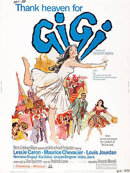 Gigi, Us Poster, Leslie Caron Center by Everett