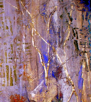 Gilded Trees and Rock by Beth Sebring