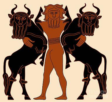 Science Source - Gilgamesh Subduing Two Bulls