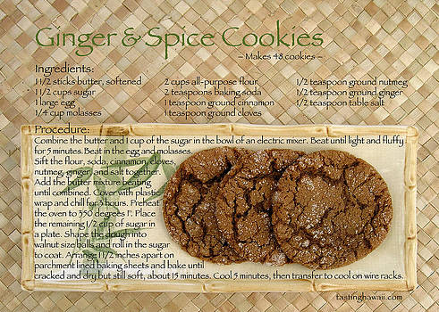 James Temple - Ginger and Spice Cookies