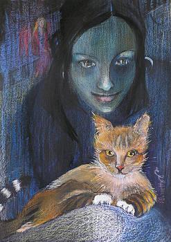 Ginger Cat by Alicja Coe