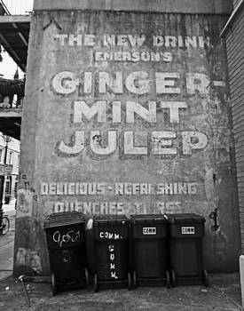 Ginger-Mint Julep Mural in New Orleans by Louis Maistros