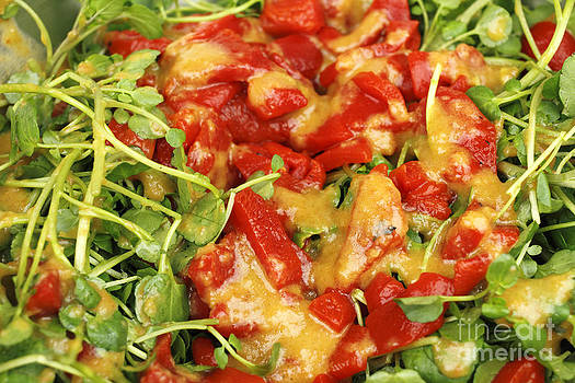 Ginger Watercress and Red Pepper Salad by Lee Serenethos