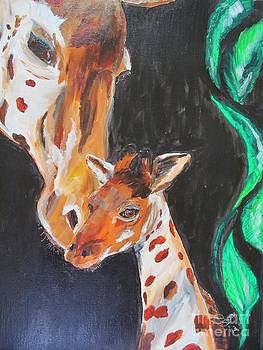 Giraffe family by Susan Voidets