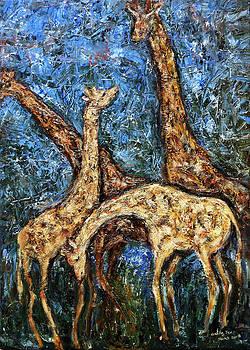 Giraffe Family by Xueling Zou