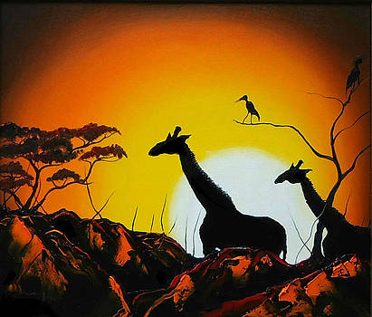 Giraffe Of Serengeti 4 by Portland Art Creations