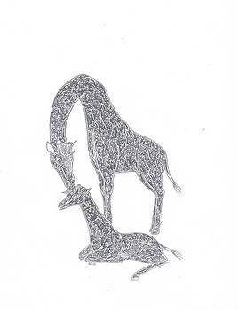 Giraffes by Kali Kardsbykali