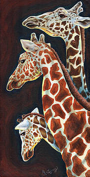 Giraffes We Three by Kim Loberg