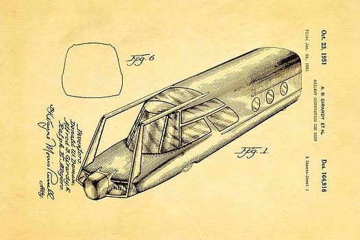 Ian Monk - Girardy Railway Observation Car Patent Art 1951