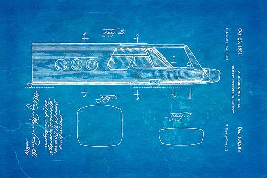 Ian Monk - Girardy Railway Observation Car Patent Art  2 1951 Blueprint