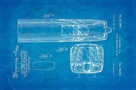 Ian Monk - Girardy Railway Observation Car Patent Art  3 1951 Blueprint