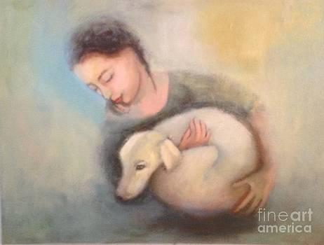 Girl and dog by Michal Shimoni