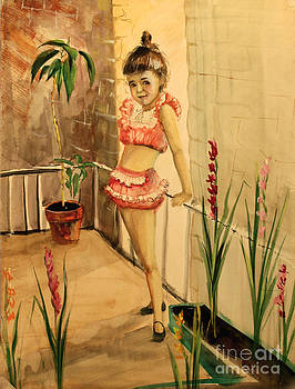 Art By Tolpo Collection - Girl and Gadiolus