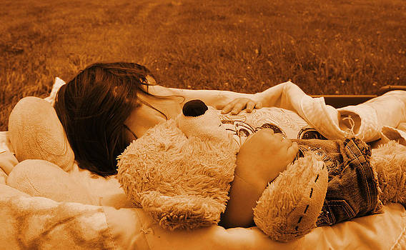 Girl and her bear by Xcape Photography