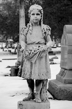 Girl at Crown Hill Cemetery by Melissa Wyatt