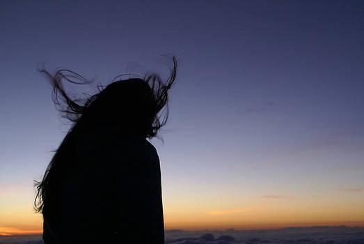 Girl at Haleakala by Paul Lavoie