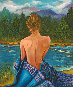 Girl by the River by Esther Rivas