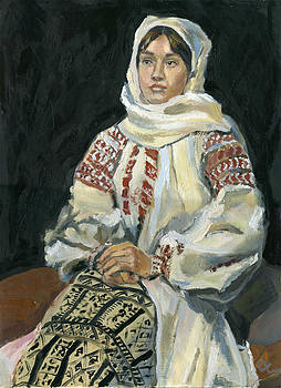 Girl In a National Costume by Lelia Sorokina