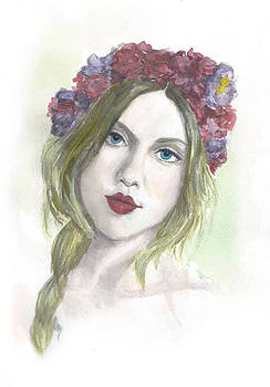 Girl in Flower Crown by Sabina Mollot