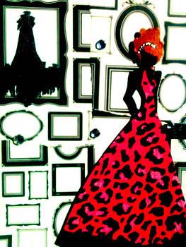 Girl in Frame Shop by Mela Lucia