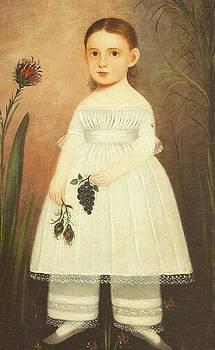 Girl In Garden by Artist Unknown