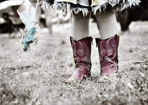 Girl in Red Boots by Angela Bonilla