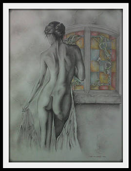 Girl in the Stained glass window by Chris Mc Crossan